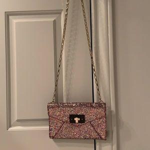 Kate Spade Glitter Bag on Platinum Chain